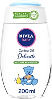 NIVEA Baby Delicate Caring Oil, Natural Almond Oil, 200ml