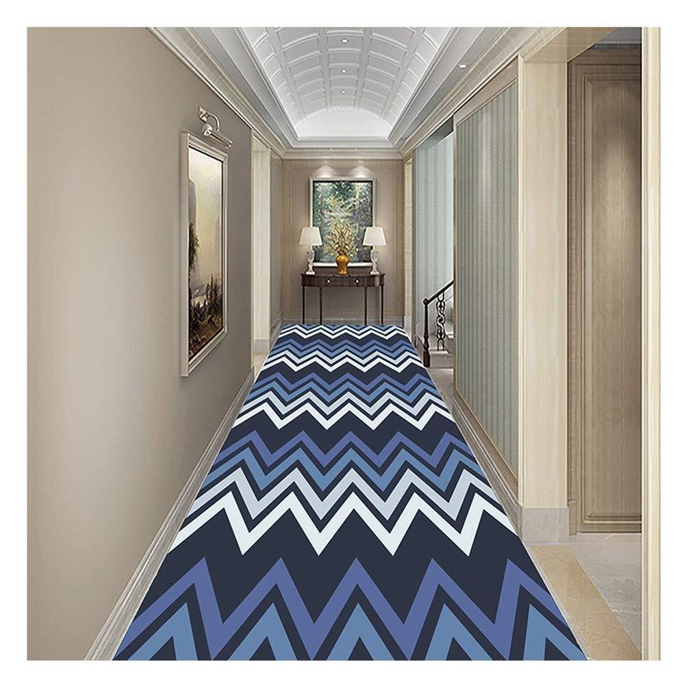Jcy-La alfombra Suave Y Duradero Corredor Pasillo Sala Estar Escaleras Cocina Oficina,Antideslizante Lavable,Moqueta de Estilo Moderno Geométrico 3D (Color : Blue, Size : 0.6x4m): Amazon.es: Hogar