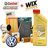 Kit Tagliando 4 Filtri Wix + 5Lt olio Castrol Professional LongLife III 5W30 (WL7514; WF8477; WA9759; V4010)