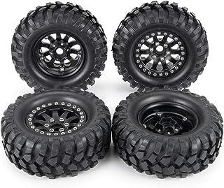 WEIZEU RC Car Wheel,4 PCS RC Rock Crawler 1.9 Inch 98mm Tires Wheels for 1//10 Tamiya D90 SCX10 CC01