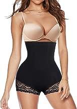 Irisnaya Bodysuit for Women Tummy Control Shapewear Thong Shaping Tank Top Round Neck Jumpsuits Short Sleeve T Shirts