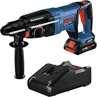 Bosch GBH18V-26DK15 18V EC Brushless SDS-plus Bulldog 1 In. Rotary Hammer Kit with (1) CORE18V 4.0 Ah Compact Battery