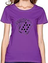 KEMING Women's Royal Flush Poker T-Shirt