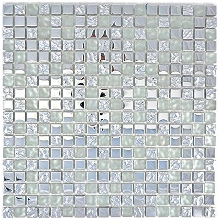 10 Mosaikmatten Mosaik Fliese Transluzent Glasmosaik Crystal blau f/ür WAND BAD DUSCHE K/ÜCHE FLIESENSPIEGEL THEKENVERKLEIDUNG BADEWANNENVERKLEIDUNG Mosaikmatte Mosaikplatte