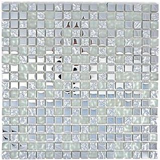 GORGECRAFT 220 St/ück Mosaikfliesen Glas Glitzer Mosaik gemischte Farben Mosaik quadratische Form Buntglasstein f/ür DIY Kunst Handwerk Projekte handgefertigte Dekoration