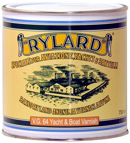 Rylard VG 64 Yach & Boat Vernice Lucida per Legno, Trasparente, 750 ml