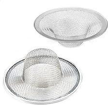 Adianna 2 pcs Stainless Steel Slop Basket Filter Drain Trap 3.5 inch 9 cm. Mesh Strainer Filter Kitchen Wash Floor drain b...