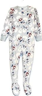 Boy's 3T Light Blue Snowman Fleece Footed Blanket Pajama Sleeper