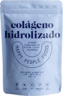 Colágeno Hidrolizado Bovino con Biotina y Ácido Hialurónico - 500 gr - Happy People Foods