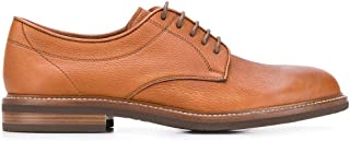 Luxury Fashion | Brunello Cucinelli Men MZUCCRK938C7629 Brown Leather Lace-up Shoes | Spring-summer 20