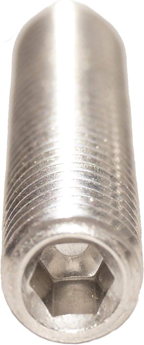 50 unidades Tornillos prisioneros M3 x 4 con hex/ágono interior y cabeza c/ónica acero inoxidable ISO 4026 A2