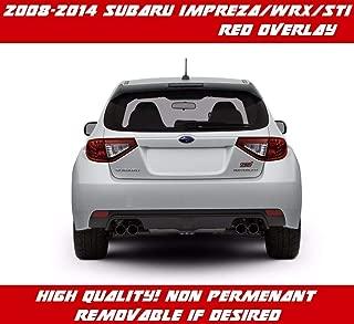 V2 Transparent Red Tail Light Overlay Vinyl for 2009-2014 Subaru Impreza WRX STI