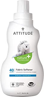 ATTITUDE Nature +, Hypoallergenic Fabric Softener, Fluid Ounce, 40 Loads Wildflowers 33.8 Fl Oz