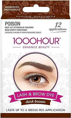 1000 HOUR Eyelash & Brow Dye Kit, Dark Brown, 72g