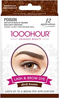 1000 HOUR Eyelash & Brow Dye Kit, Dark Brown, 72g