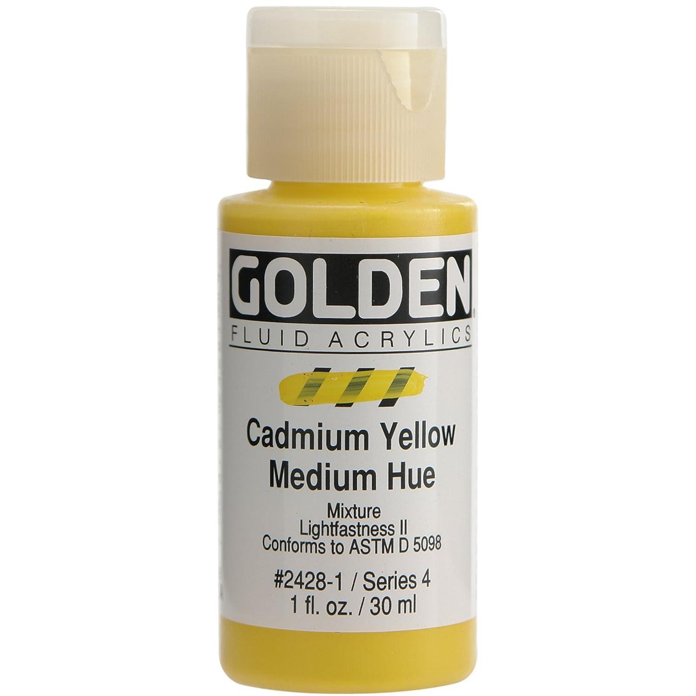 Golden Fluid Acrylics - Cadmium Yellow Medium Hue - 1 oz Bottle eqasnb1337822