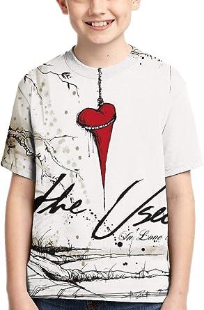 CCANE7 Camiseta Divertida Kid's The Used in Love and Death Camiseta de Manga Corta Impresa en 3D de diseño para niñas y niños