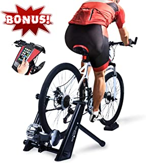 HEALTH LINE PRODUCT Fluid Bike Trainer Stand, Indoor Fluid Bicycle Exercise Trainer w..