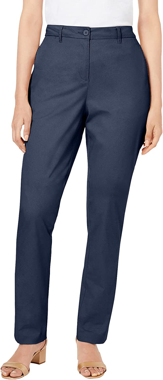 Jessica London Women's Plus Size Straight Leg Chino Pant
