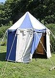 Palazzo24ronde Tente Johann médiévale, 3m de diamètre Ritter Tente Roulement LARP médiéval viking couleurs assorties XL naturel