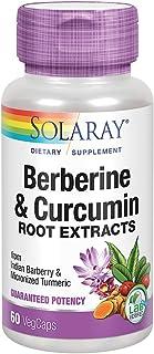 Solaray Berberine & Curcumin Root Extracts | Healthy Digestive, Cardiovascular & Metabolic Function Support | 60 VegCaps