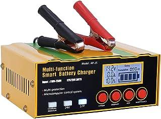 Andifany Chargeur de Batterie de Voiture 12a 12V / 24V Chargeur Intelligent Automatique pour Batteries au Lithium AGM/Batt...
