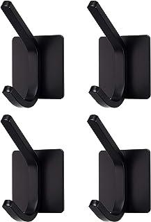 Negro Ideal para Ba/ño Cocina Baldosa Ganchos Ventosa Fuerte Perchas Resistente al Agua