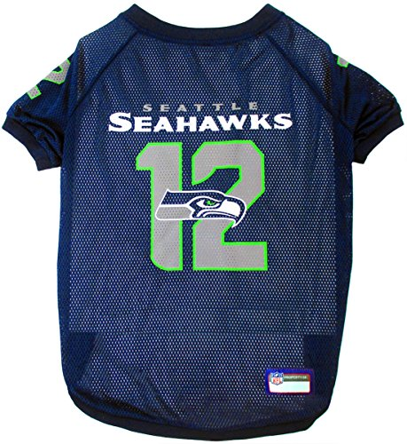 Pets First SEA-4000-XXL Seattle Seahawks Mesh Jersey, Xx-Large Size