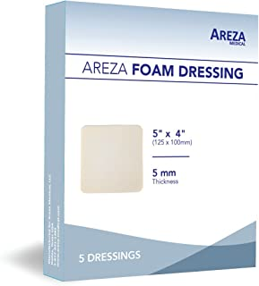 Foam Dressing Polyurethane 5x4 12.5 cm X 10 cm Box of 5 Sterile (1); Wound Dressing by Areza Medical