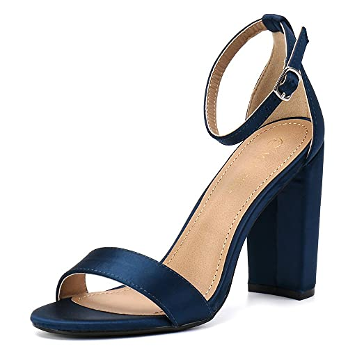 premium selection a84ea 8d91a Moda Chics Women s High Chunky Block Heel Pump Dress Sandals