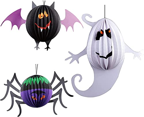 high quality Halloween Paper Lanterns Decor: outlet sale Ghost/Spider/Bat Fold-up Lanterns Hanging Ornaments, Funny Halloween Decor sale for Home Party Ornaments Decor sale