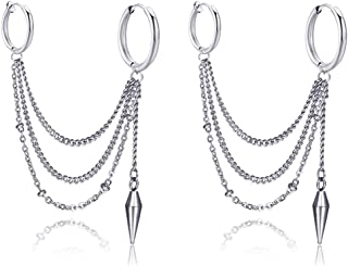 chain earrings cartilage to lobe