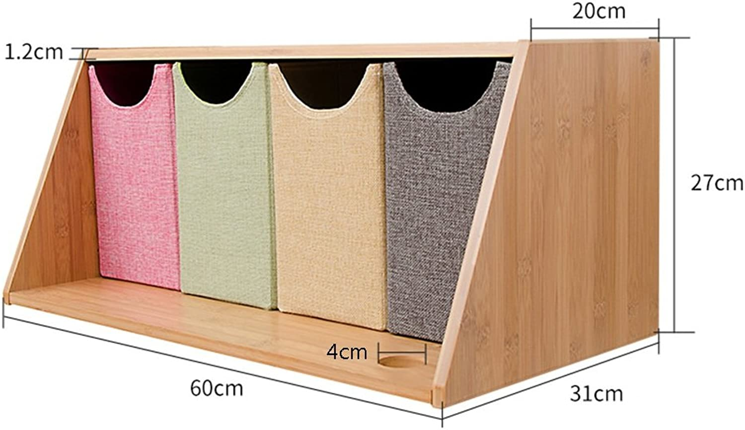 Multi-Functional Wall Shelf, Wall Hanging Creative Lattice, Solid Wood Shelf. (Size   B)