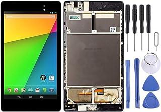 Cell Phone LCD Display LCD-skärm och digitizer full montering med ram för Asus Google Nexus 7 andra 2013 ME571KL Phone Spa...