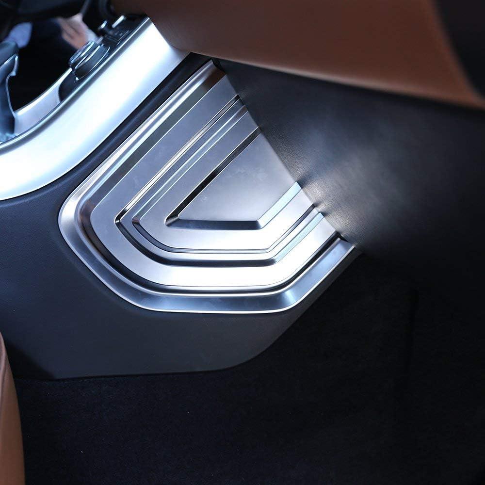 ABS Chrome Plastic Center Side Dashoboard U Shape Panel Cover Trim Car Accessories black For Land Rover Range Rover Sport 2014-2020