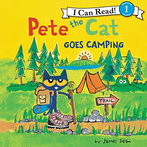 『Pete the Cat Goes Camping』のカバーアート