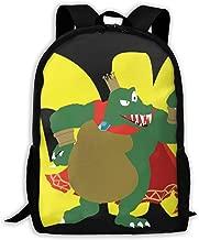 SSB King K Rool Classical Basic Travel Backpack for School Water Resistant Bookbag