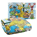 Sesame Street Retro Gang Officially Licensed Silky Touch Super Soft Throw Blanket 36' x 58'
