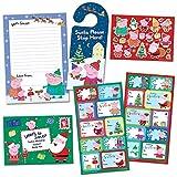 Paper Projects 01.70.24.067 Peppa Pig - Paquete de etiquetas de regalo y carta de Navidad para Papá...