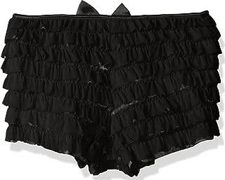 Mesh Ruffle Panty w/Bow Medium Black
