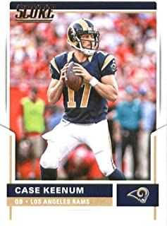 2017 Score #17 Case Keenum Los Angeles Rams Football Card