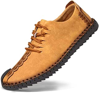 [メイオウ] メンズ カジュアルシューズ デッキシューズ 革靴 メンズ 手作り ローカット ワークブーツ オックスフォードの靴 カジュアルシューズ ファッションスニーカー レースアップシューズ 通勤用 防滑24.0cm~28.0cm