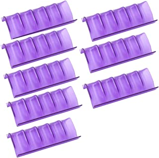 LONG TAO 8 Pcs Shelf Essential Oils Storage Oil Bottles Expandable Essential Oil Holders For Spice Racks Organizing Displaying (Purple)