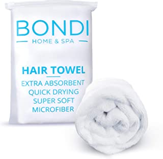 Bondi Home & Spa Microfibre Hair Towel Wrap for Women – Super Absorbent, Fast Drying, Large & Soft, Perfect for Long or Cu...