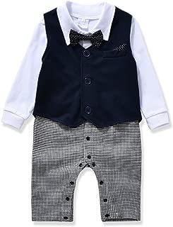 Gentleman Style Baby Boy's Romper&Vest&Bowtie 3 Pieces Clothes Suit 2 Color
