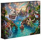 peter pan artwork - Thomas Kinkade Studios Peter Pan's Neverland 8 x 10 Gallery Wrapped Canvas
