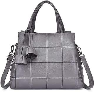 TWTAI Women's Casual Handbag Business One Shoulder Messenger Bag (Color : Gray)