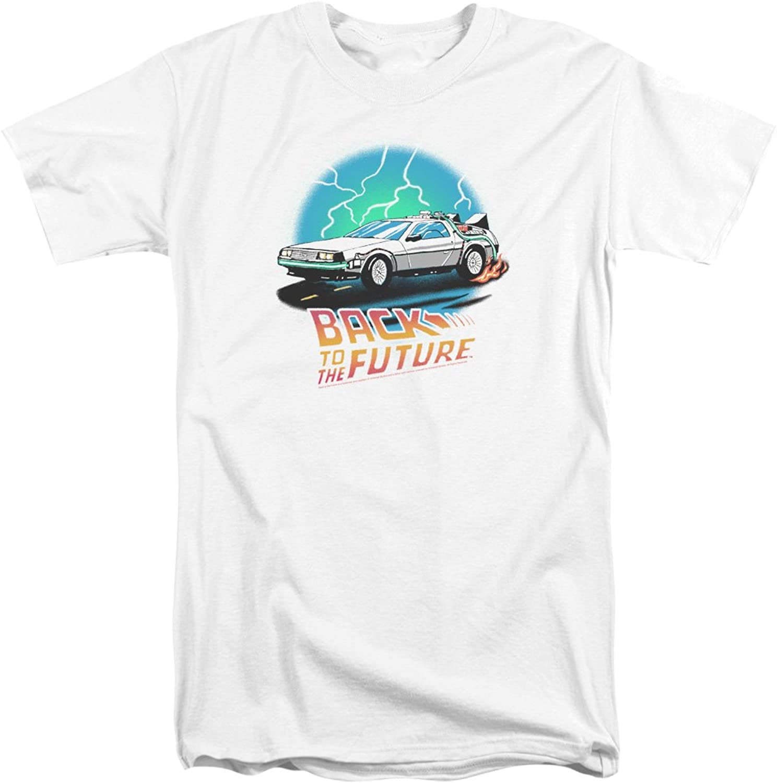 Back to the Future  Mens Bttf Airbrush Tall TShirt