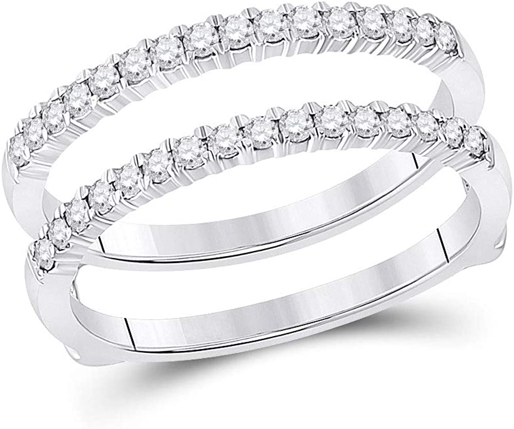 2021 Max 60% OFF new Dazzlingrock Collection 14kt White Gold Diamond Round Womens Wra