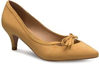 Olivia K Women¡¯s Classic Closed Toe D'Orsay Bow Kitten Heel Pump   Dress, Work, Party Mid Heeled Pumps